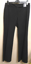 Principles UK14R EU42R new black 40% wool bootcut trousers with pink pinstripes