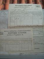 1914 DOCUMENTI DELLA BANCA DI DEPOSITO E SCONTO DI MARRADI