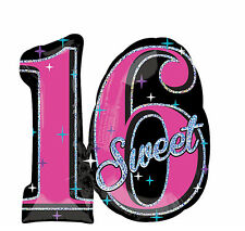 """Celebrate Sweet Sixteen 16th Birthday Foil Balloon Party Decoration Supplies 28"""""""