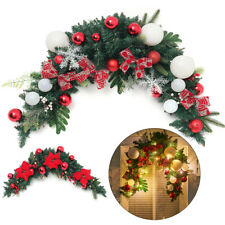 More details for 120cm large front door/wall/fireplace/cabinet wreath bedecked with xmas baubles