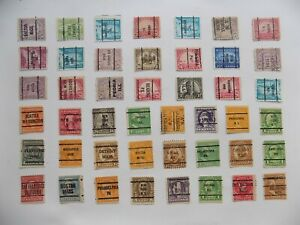 U S   Collection of all used PRECANCEL DEFINITIVES -7-26-E-We combine shipping