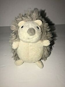 "Baby GUND Grey Pokey Hedgehog Mini Rattle Plush Stuffed Animal 4"""
