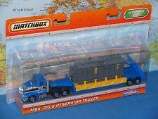 """MATCHBOX MBX RIG & GENERATOR TRAILER DETACHABLE CAB 9"""" (23cm) *BRAND NEW & RARE*"""