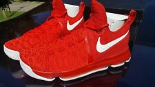 Nike Zoom KD 9 843392-611 University Red White Kevin Durant Shoes NEW in box