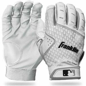 FRANKLIN SPORTS 2nd-Skinz White Batting Gloves - YOUTH SIZES