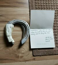 TAPITURE HORSESHOES WITH COA FROM DARBY DAN FARM - OLD FRIENDS - CHARITY