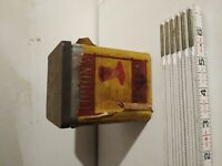 Vintage 30's Lipton Tea Tin, Paper Label Included, Yellow & Red, Embossed Lid