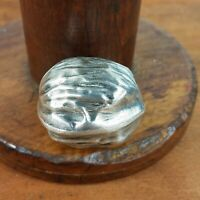 Vintage Mexican 925 Silver Walnut Pill Trinket Box Rare  15 grams