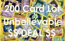 Pokemon TCG ~ 200 Card Lot ~ RARES ~ HOLOS ~ FREE SHIPPING! NO DUPLICATES!!