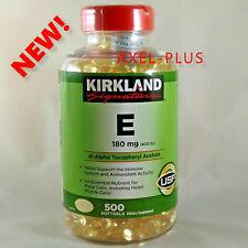 KIRKLAND SIGNATURE VITAMIN E 400 I.U. 500 SOFTGELS .EXP 09/2023 OR LATER