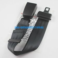 PM Genuine 85cm Adjustable Black Steel Safety Seat Belt Buckle Extender Strap