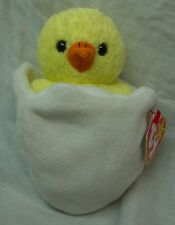 """TY Beanie Baby EGGBERT THE CHICK IN EGG 6"""" STUFFED ANIMAL Toy NEW"""