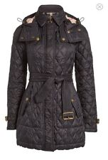 Burberry Brit 'Finsbridge' Belted Quilted Jacket Size L