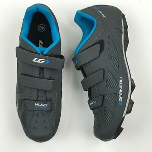 Louis Garneau Men Gray Multi Airflex Cycling Shoes sz 11.5 NEW