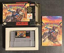 RARE Sunset Riders (Super Nintendo 1993) Complete in Box Game CIB SNES AUTHENTIC