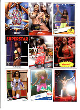 Naomi Wrestling Lot of 9 Different Trading Cards 3 Inserts WWE TNA N-A2