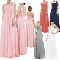 Women Long Chiffon Formal Evening Party Ball Gown Prom Bridesmaid Wedding Dress