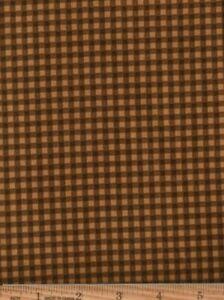 "Cotton Fabric ""Basically Beautiful"" by Maywood Studios tan brown checks  OOP"