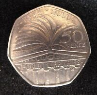 Public libraries 50p fifty pence coin 2000