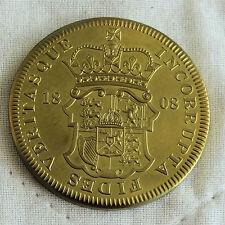 GEORGE III 1808 GREAT BRITAIN GOLDEN ALLOY PROOF PATTERN SHIELD CROWN - coa
