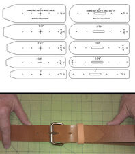10 PIECE BELT ENDS TEMPLATE  SET IN STANDARD SIZES - SQUARED ENDS- SHOP TOOLS