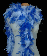 Royal Blue / White 65 Grams Chandelle Feather Boa Party Halloween Costume