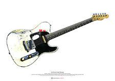 Rick Parfitt's Fender Telecaster del poster artistico per chitarra Taglia a2