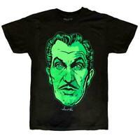 Vincent Price Classic Face T-Shirt Black Green Tee Kreepsville 666 Gothic Size L