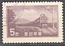 KOREA 1959 used SC#201  5ch  stamp,  Electric Lokomotive.