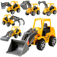 Kids Children Small Yellow Engineering Vehicle Car Truck Excavator Model Toys AU
