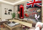 Papel Pintado Mural De Vellón Cabina De Teléfono Roja 32 Paisaje Fondo Pantalla
