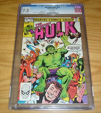 Incredible Hulk #279 CGC 7.5 3rd rocket raccoon - white pages - bill mantlo 1983