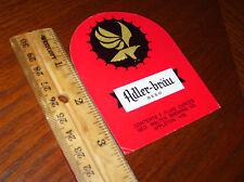 Adler~Brau Beer~Geo. Walter Brewing~Appleton Wisconsin~Beer Bottle Label