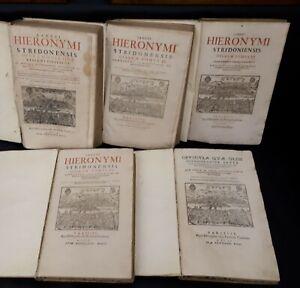 Sancti Hieronymi Stridonensis Opera omnia quae reperiri potuerunt (5 vol) 1609
