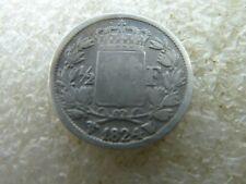 très rare demi franc Louis XVIII 1824 W réf FA 03