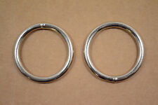 """O Ring - 2"""" - Nickel Plated - Wire Welded - Pack of 6 (F427)"""