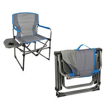 Folding Camping Chair HIGHLANDER COMPACT DIRECTORS CHAIR With Side Table