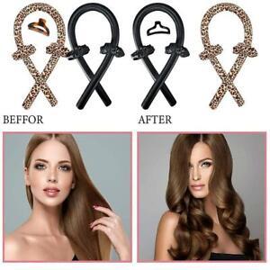 Heatless Curling Rod Curls Silk Ribbon Hair Roller Sleeping Wave Headband New