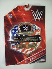 NEW BOY'S WWE UNITED STATES CHAMPION TITLE PLASTIC CLIP ON BELT BUCKLE JAKKS