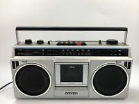 Vintage Sanyo Boombox Stereo Radio AM/FM Cassette Recorder Model M 9802 AA