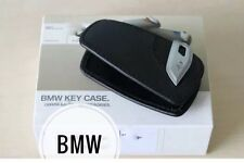 Key Holder Fob Leather Case/Cover M Sport Black For BMW