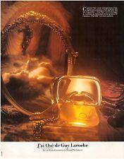 ▬► PUBLICITE ADVERTISING AD Parfum Perfume GUY LAROCHE J'ai Osé