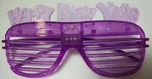 Happy New Years Light Up Shutter Glasses - Blinking Blinder Shades