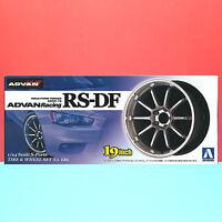 Aoshima 1/24 19 inch ADVAN Racing [RS-DF] wheel & tire model kit #009017