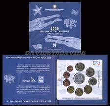 DIVI2009AG] DIVISIONALE UFFICIALE 10 MONETE  EURO ITALIA 2009 CON ARGENTO