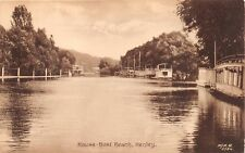 HENLEY OXFORDSHIRE UK~HOUSE-BOAT REACH~M J RIDLEY #6784 PHOTO POSTCARD