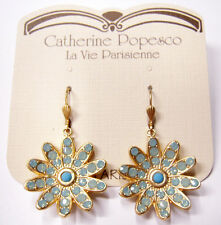 Catherine Popesco 14K Gold Plated Pacific Opal Mix Flower Earrings