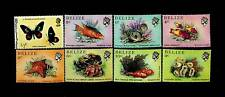 BELIZE MARINE LIFE BUTTERFLY SET OF 8 MNH STAMPS