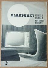 Blaupunkt Prospekt anno 1963 Fernseher Heimradio Kofferradio Autoradio Radio TV