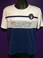 Rare Tommy Hilfiger Casual Shirt Men's XL Extra Large France Paris Blue White
